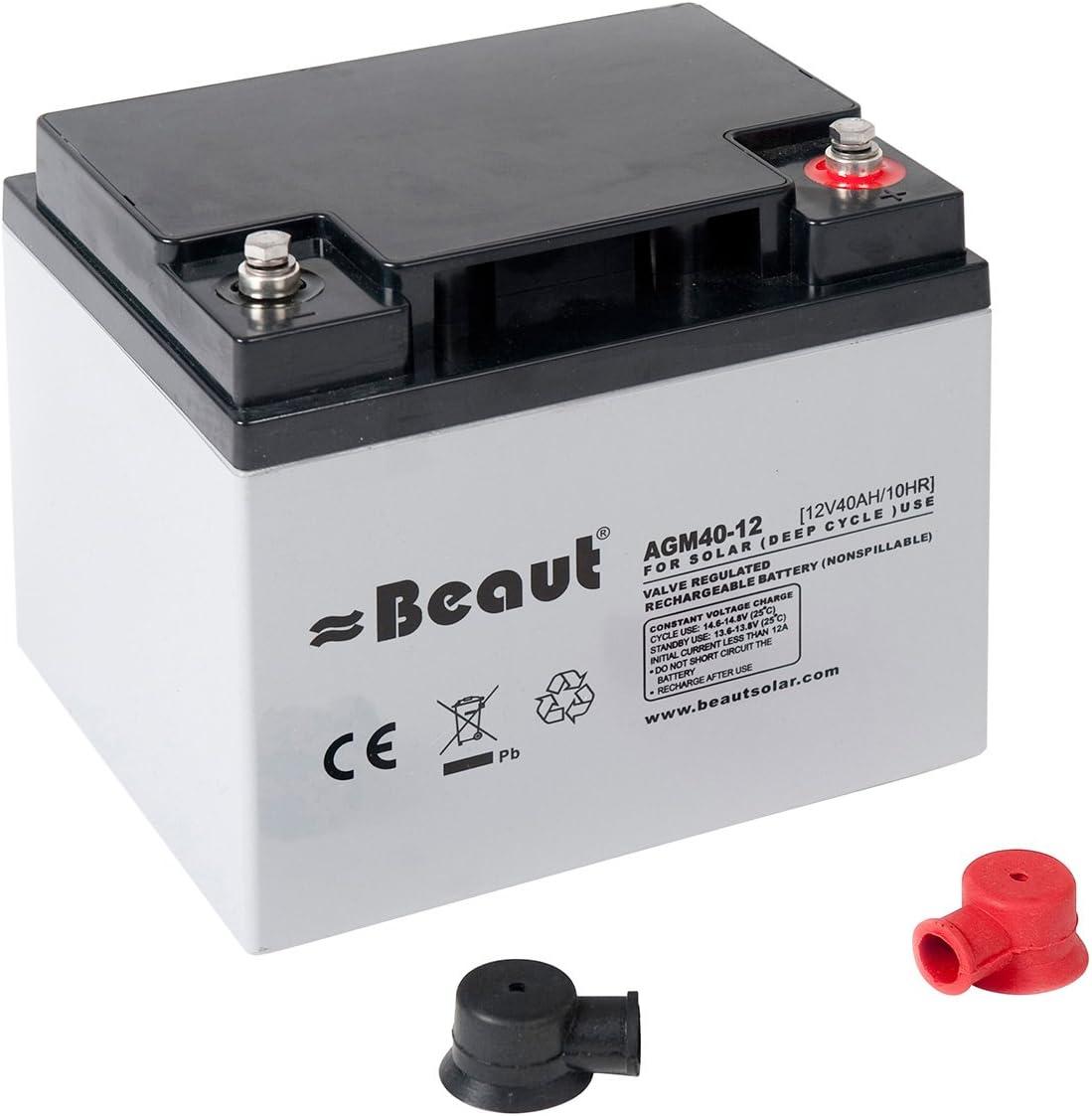 Batteria Solare Beaut 40/a 12/Volt AGM 198/X 166/X 171/mm ideale per roulotte e camper
