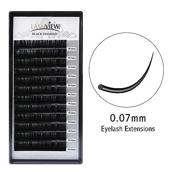 f7563799785 Amazon.com : LASHVIEW Silk Individual Lash Extensions D Curl 13mm  Semi-permanent Soft Application for Professional Salon Use 0.07 Thickness  Volume Faux Mink ...