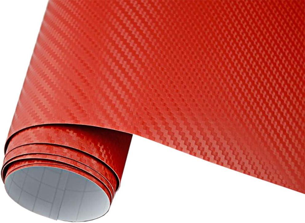 Neoxxim 5 M2 Auto Folie Carbon Folie 3d Carbonfolie Rot 50 X 150 Cm Blasenfrei Klebefolie Dekor Auto