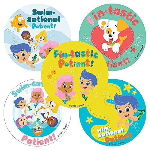 Smile Makers Bubble Guppies Patient Stickers - Doctor Office Giveaways - 100 Per Pack by Smile Makers