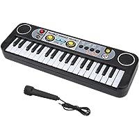 Huhushop Juguetes de Piano Digital con Micrófono de 37 Teclas con Estándar Negro para Niños Yosoo