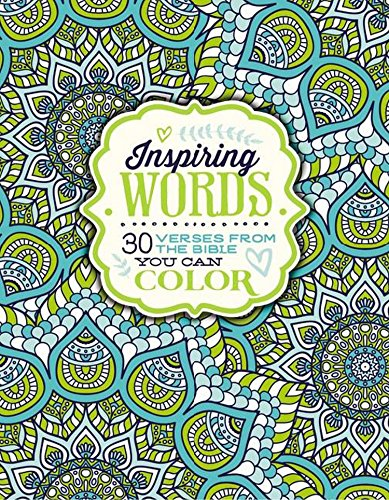 Coloring Books for Seniors: Including Books for Dementia and Alzheimers - Inspiring Words Coloring Book: 30 Verses from the Bible You Can Color