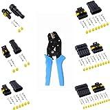 MUYI 10 Kits 2 Pin and 3 Pin Automotive Connectors and SN48B Crimp Pack