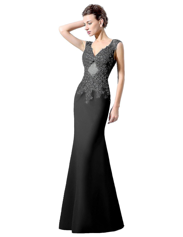Sarahbridal Women's 2016 Long Chiffon Beaded Evening Prom Dress Mermaid Backless Wedding Gowns LX060