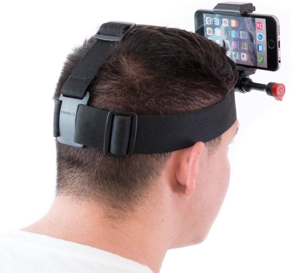 Head Camera Mount Compatible with All Smartphones and GoPros for Action Sports and More