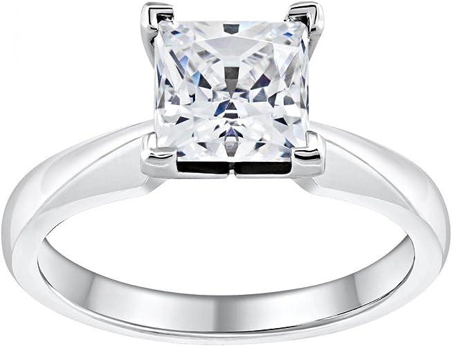 Jewelsforum Royal Princess Diamond Ring In 14k White Gold With 0 7