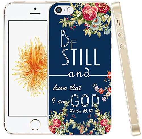 online store 0f668 602b2 Case For Iphone 5C Bible Theme,Hungo Compatible Soft Tpu Silicone  Protective Cover Case Replacement For Iphone 5C Christian Psalm Quotes Be  Still and ...