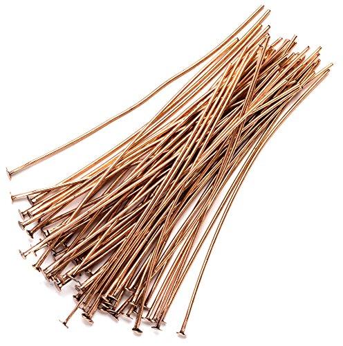 - 60pc 2in Head Pins - Copper