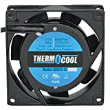 3 inch ac fan - Thermocool Fans G8025HAS Fan, 120 VAC, 23 CFM, 12
