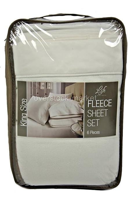 Life Comfort Fleece Bedding Set Of 6 Pieces 180 Cm Amazon Co Uk