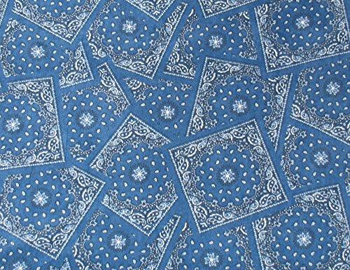 Blue Bandana Printed Fleece Throw Blanket (Bed Bandana Sheets)