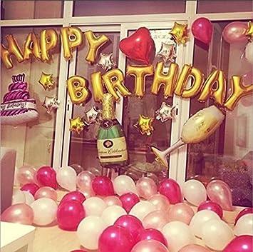 [127 Piezas ] Globos Fiesta Cumpleaños Paquete de Globos Globos de Helio Decoración de Fiestas Juegos de Globos Decoración de la Festivas Colores ...
