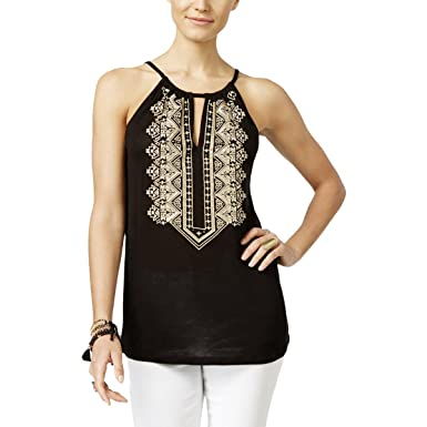 feb22f01837ef Image Unavailable. Image not available for. Color  INC Womens Petites  Embroirdered Embellished Tank Top ...