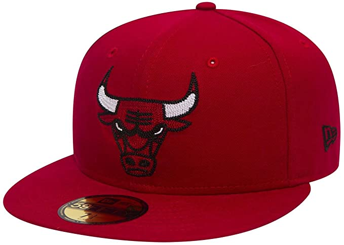 aa387013ac4fb ... coupon code for new era 59fifty chain stitch nba chicago bulls cap red  7 1 8