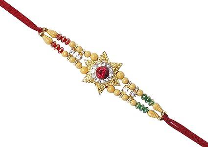 Amazon Com Rudraksha Rakhi For Brother Raksha Bandhan Traditional