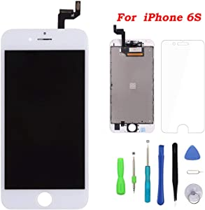 Screen Replacement for iPhone 6s White Touch Screen Digitizer LCD Display Replacement Full Assembly with Repair Tool Kit (6s.White)