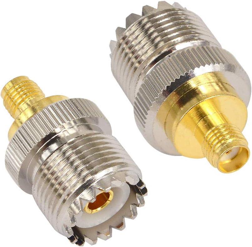 Conector adaptador para antena SMA hembra a SO-239 (2 unidades)