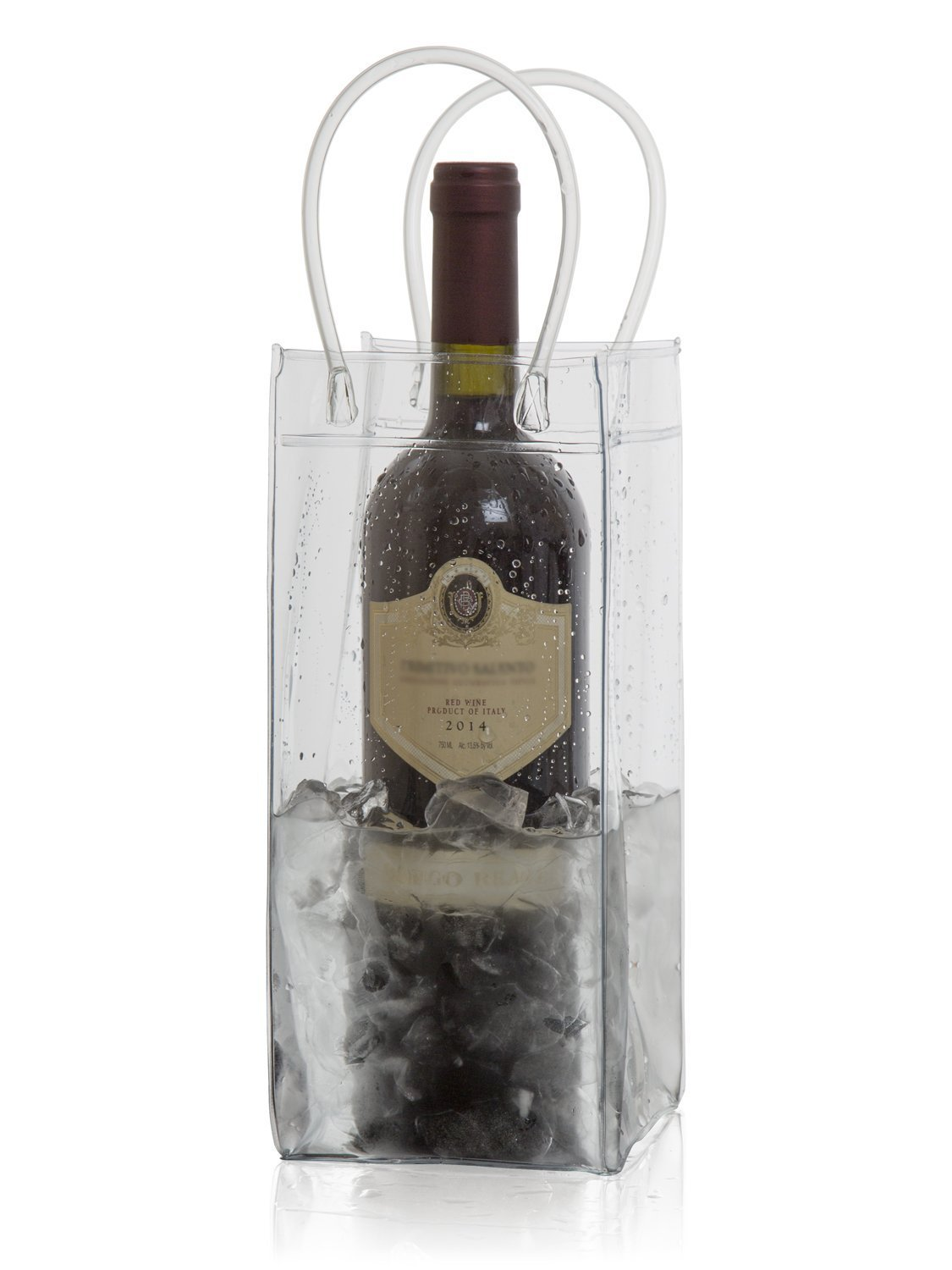 Wine Chiller Ice Bucket Plastic Bag Wine Cooler With Handle ... (6) by Wine Bag-It