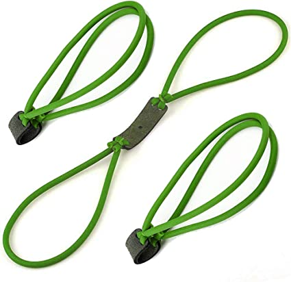 3pcs Black Powerful Elastic Rubber Band For Outdoor Slingshot Hunting Catapult