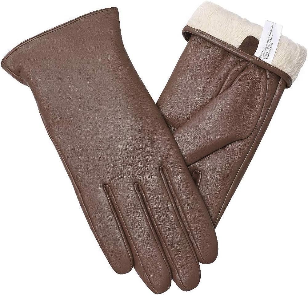iTLOTL Womens Mens Winter Cashmere Knit Touchscreen Fingers Screen Warm Fleece Gloves