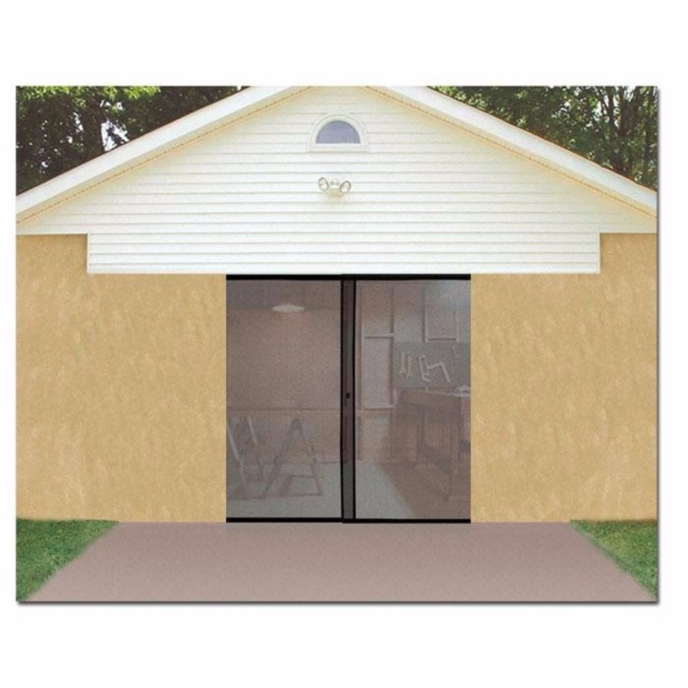 Garage Door Screen Single Magnetic Closure Weighted Bottom Insects Bugs Mesh