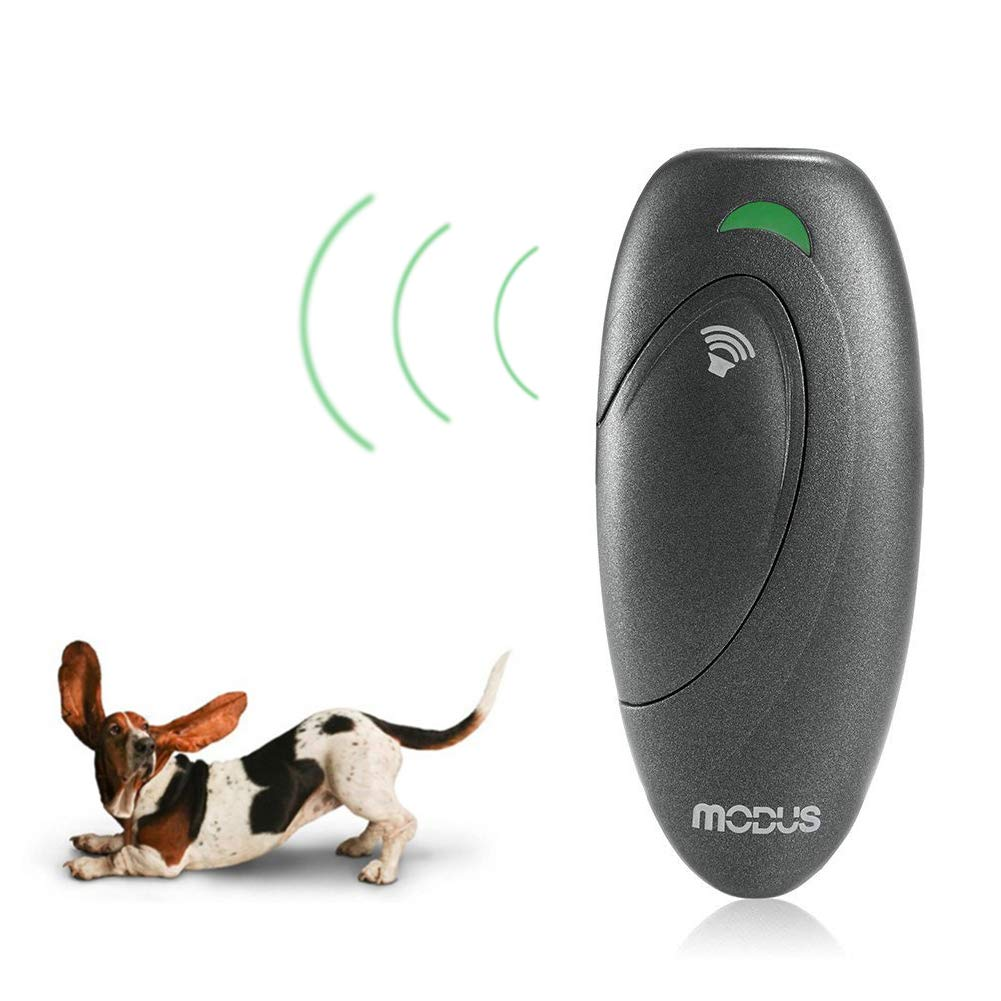 Weyio Handheld Dog Trainer Anti Barking Device Handheld ultrasonic Dog bark Deterrent with Wrist Strap Portable Dog Trainer with LED Indicator Light (Gray) by Weyio (Image #1)