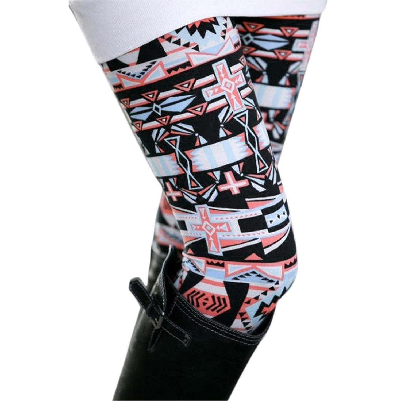 ☻ ☺Pretty Women Casual Geometric Print Stretchy Slim Leggings Pants