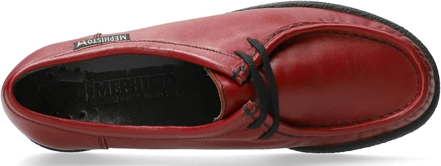 Mephisto Chaussures /à Lacets Femme Christy Cuir Rouge