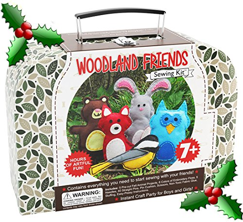its Woodland Animals Craft Educational Sewing Kit for 7 to 12 Age Kids (Forest Animal Craft)