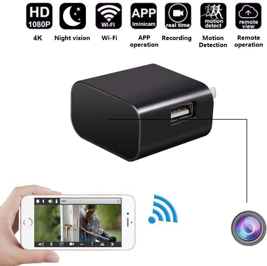 FiveSky HD 1080P Telecamera Nascosta Telecamera Spia WiFi Spy Cam Caricatore USB Microcamere Spia Rilevazione del Movimento Videocamera di Sorveglianza Controllo APP