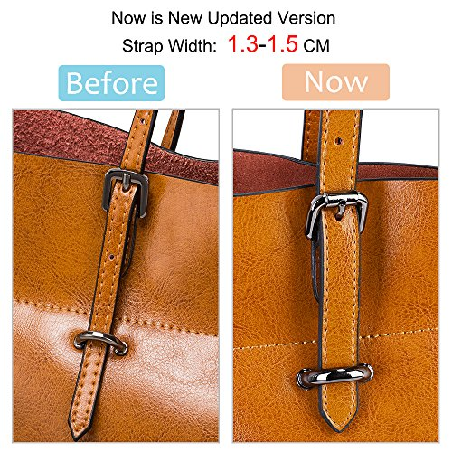 Vintage Dark Handbag Shoulder Tote Women's Brown S Bag Genuine Leather ZONE Brown EFOwpxq8z