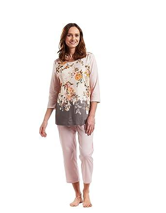 b954a3a8f9 Rosch 1183574-12255 Women s New Romance English Rose Pink Floral Pajama  Pyjama Set 12