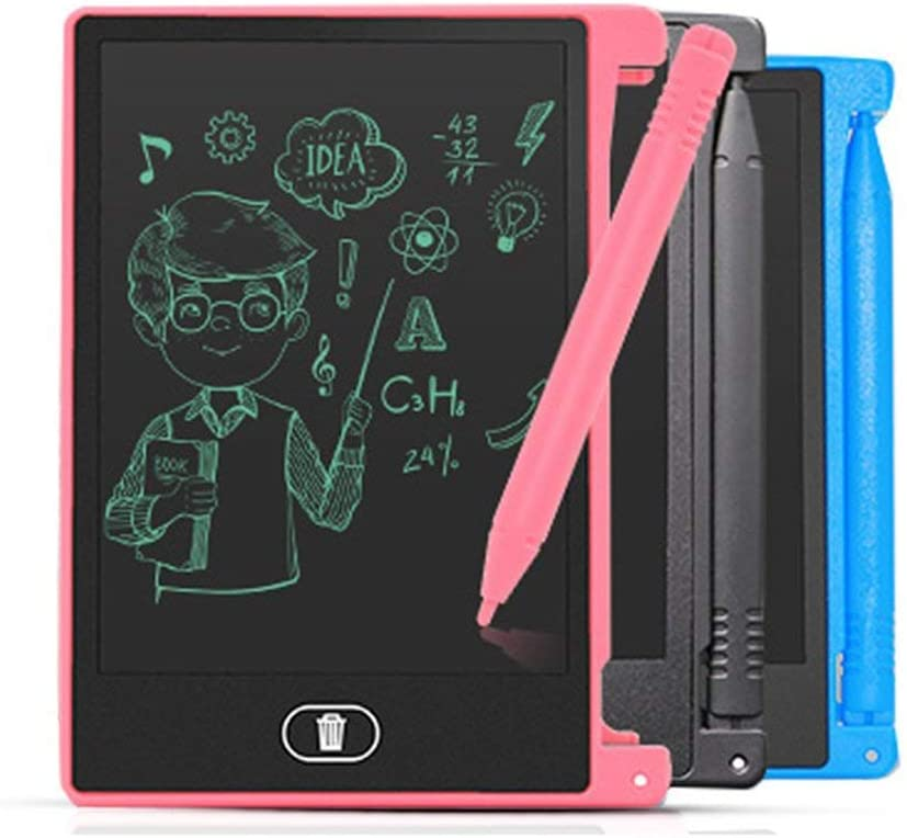 LCD Writing Tablet 4.4 Inch Digital Drawing Tablet Handwriting Pads Portable Electronic Tablet Board Ultra-Thin Board with Pen Black