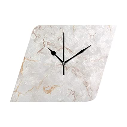 Amazon Com Jacksonnd Blithed Copper Rose Gold Marble Diamond Clock