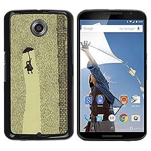 "Pulsar Snap-on Series Teléfono Carcasa Funda Case Caso para Motorola Google NEXUS 6 / XT1100 , Lluvia Cute Kids embutición profunda"""