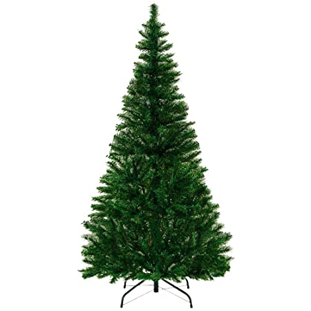 Plastic Christmas Tree.Artificial Tree Stand 4ft Plastic Large Tree Plants Wedding Decoration 150cm Spruce Artificial Trees Green