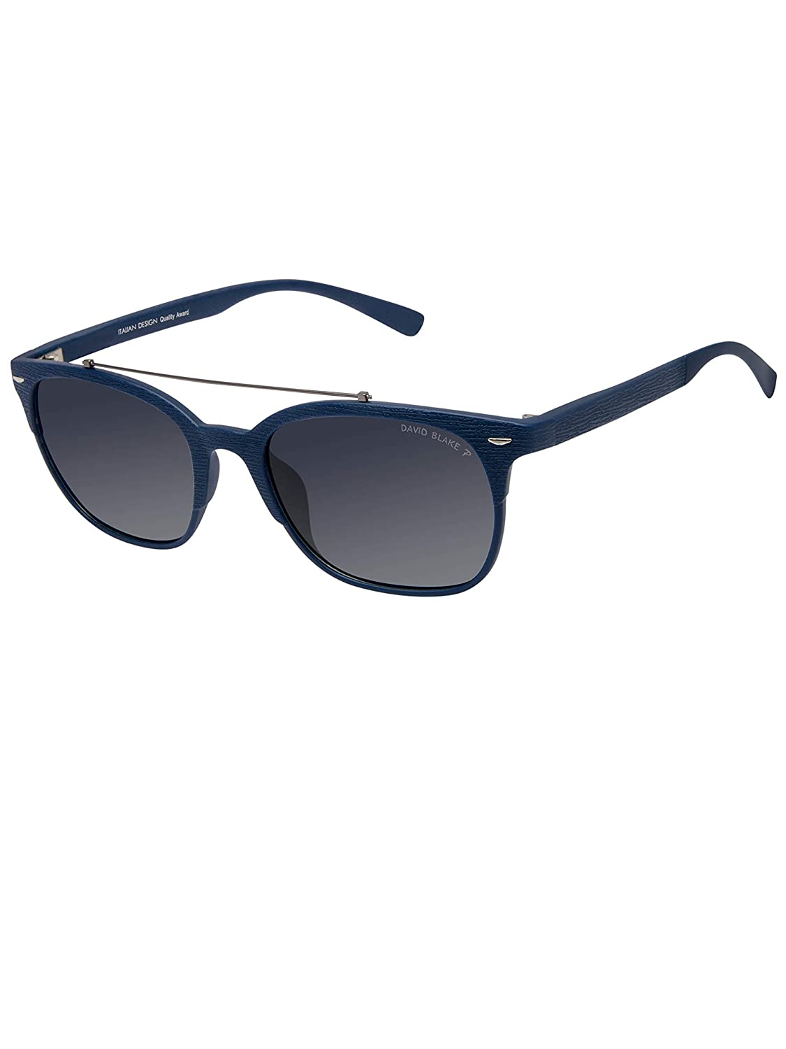e0e69c9dec David Blake Blue Wayfarer Gradient Polarised UV Protected Sunglass -  SGDB1527xTR133C3