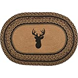 VHC Brands Classic Country Rustic & Lodge Flooring-Trophy Mount Tan Oval Jute Rug, 1'8'' x 2'6''
