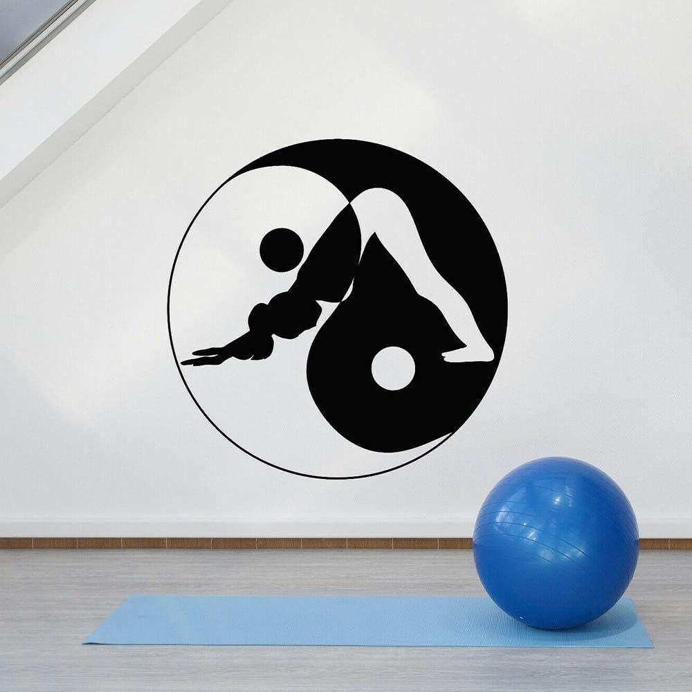 jiushivr Yoga Pose Zen Etiqueta de la Pared Yin Yang Sala de ...