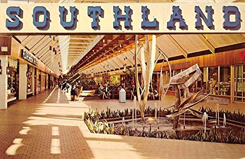 Memphis Tennessee Southland Mall Interior Vintage Postcard - Mall Stores Memphis