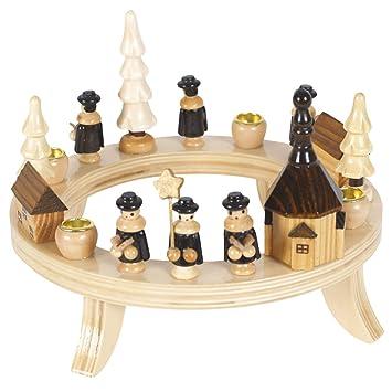 Kerzenhalter Mit Kurrende Für 4 Kerzen Holz Handgearbeitet Im