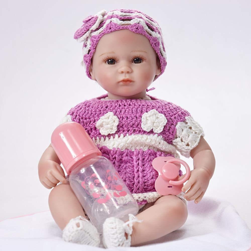 Hongge Reborn Bambola,In silicone bambola Reborn baby realistica bambola giocattolo regalo 45cm