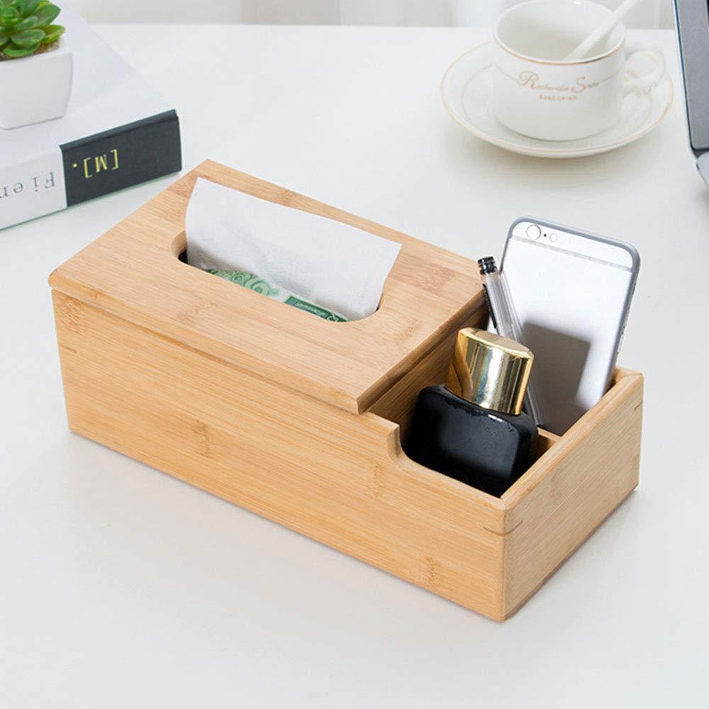 HUI JIN Caja de pa/ñuelos de Madera Maciza para Escritorio Caja de Almacenamiento Creativa para pa/ñuelos Caja de Almacenamiento de Madera Maciza