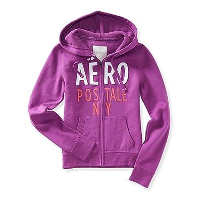 Aeropostale Womens Stacked Logo Hoodie Sweatshirt