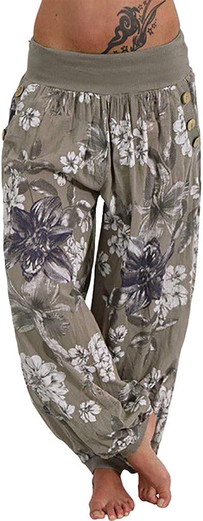 ITALIAN Lagenlook Boho Hippy Harem Pants Lounge Trousers Yoga Size 10-16