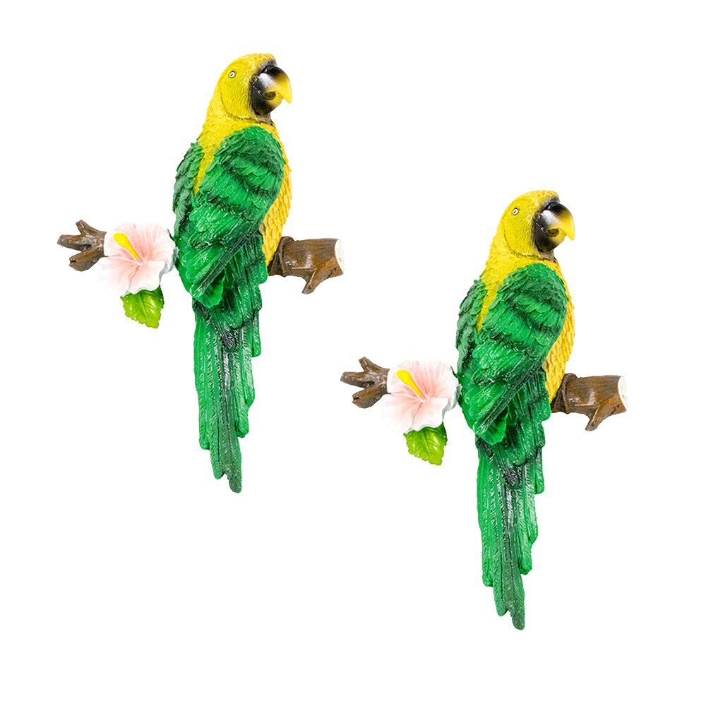 Amazon.es: Homyl 2pcs Colorida Loro Resina Estatuilla HerCasa de ...