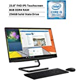 """2020 Newest Lenovo IdeaCentre A340 multitouch All in one Desktop: 23.8"""", i5-9400T, 8GB DDR4 RAM, 256GB SSD, DVD-RW…"""