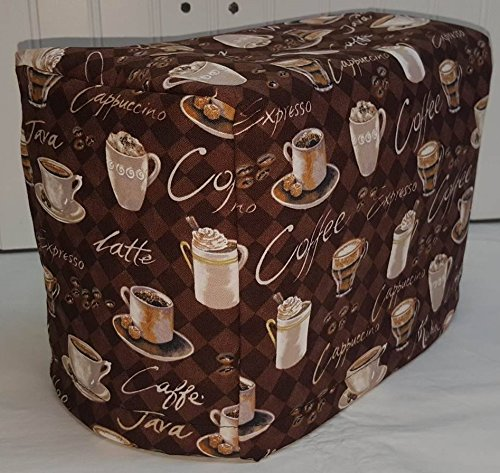 - 2 or 4 Slice Toaster Cover (2 Slice, Brown Coffee)