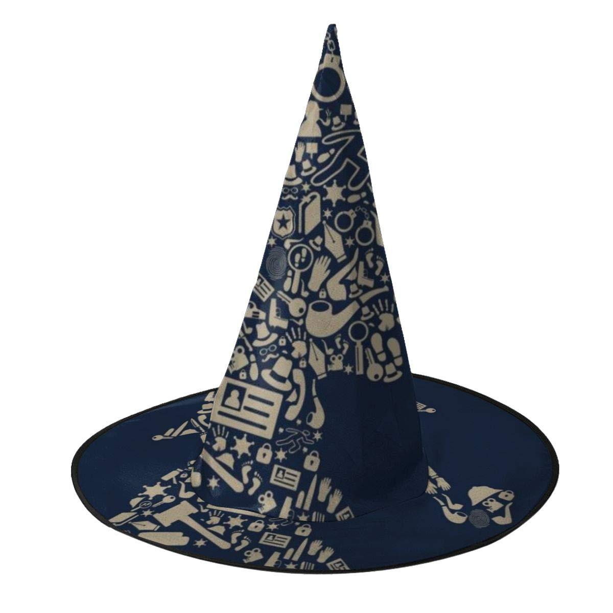 NUJSHF Sherlock Holmes Collage Sombrero de Bruja Halloween Unisex ...