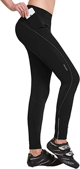 BALEAF Womens Compression Cycling Tights 3D Padded Bicycle Pants